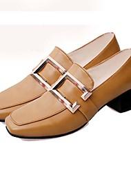 Women's Flats Spring Summer Fall Winter Comfort Light Soles PU Casual Flat Heel Black Brown Green Red