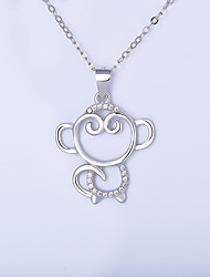 Pendant Necklaces Jewelry Sterling Silver Round Basic Animal Design Fashion Classic Silver Jewelry Daily Casual 1pc