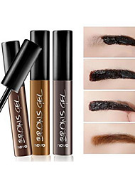 Fashion Brow Gel Eyebrow Enhancer Professional 3 Color Eye Brown Dye Gel Waterproof Henna Sobrancelha Peel Off Eyebrow