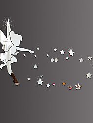 3D Wall Stickers Wall Decals Style Angels Pick Stars Mirror Wall Stickers