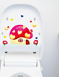 Cute Cartoon Mushroom Decorative Wall Stickers Toilet Stickers Home Decoration Wall Decal