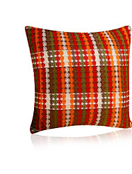 1 pcs Linen Pillow CaseTextured Plaid Traditional/Classic with Big Size (50*50cm)