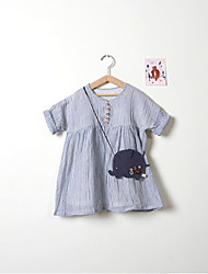 Girl's Going out Casual/Daily Beach Striped Dress,Rayon Summer ½ Length Sleeve