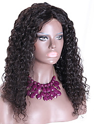 150% Density Kinky Curly Wig Brazilian 13*6 Lace Front Human Hair Wigs Natural Color 18Inch Free Part