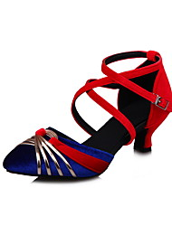 Sapatos de Dança(Preto Azul Verde Cinza) -Feminino-Não Personalizável-Sapatos de Swing