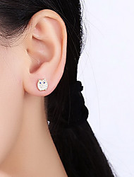 Stud Earrings Zircon Cubic Zirconia Alloy Owl Jewelry For Daily Casual
