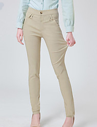 Women's Micro-elastic Jeans Pants Skinny Solid