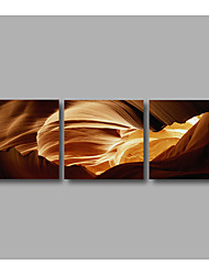 Stretched Canvas Print Abstract Modern Three Panels Canvas Wall Decor Home Decoration 72inches x 24inches Brown