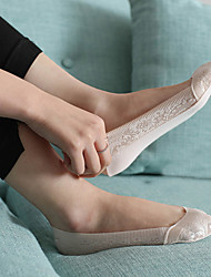 Chaussettes Fin Coton Dentelle Spandex Femme