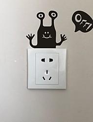 AYA DIY Wall Stickers Wall Decals Cartoon Type PVC Switch Panel Stickers 13*15cm