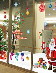 2Pcs  Christmas Window Stickers Can Be Removed 220Cm*110Cm