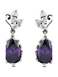 Earring Sapphire Earrings Set Jewelry Women Wedding / Party / Daily Crystal 1 pair Royal Blue / Regency