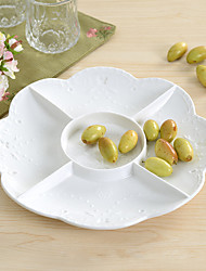White Color Ceramic Tableware Tray Cake Pan Cupcake Stand Cupcake Dessert Dish Fruit Plate Tray