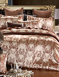 4-Piece Jacquard embroidered Duvet Cover Set