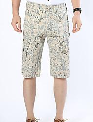 Hommes Grandes Tailles Droite Chino Short Pantalon,Actif simple Street Chic Sportif Décontracté / Quotidien PlageCouleur Pleine
