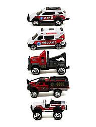 Ambulance Playsets de véhicules Jouets de voiture 1:64 Métal Plastique Rouge Maquette & Jeu de Construction