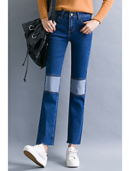 Sign new winter jeans female pantyhose straight jeans casual loose then fight flared trousers big yards