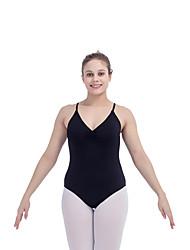Ballet Leotards Women's Children's Training Chinlon Lycra Pleated 1 Piece Sleeveless Leotard