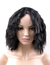 2017 new fashion in the long section of the black wave roll high temperature wire wig