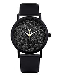Women's Fashion Watch Quartz Leather Band Black Brand