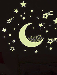 The Stars Luminous Moon Fluorescence Sticker  Adornment Bedroom Romantic Sitting Room Background Wall Stickers At Will