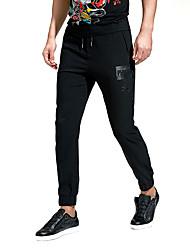 Hombre Tallas Grandes Delgado Pitillo Chinos Pantalones de Deporte Pantalones,Un Color Casual/Diario Trabajo DeportesCosecha Sencillo