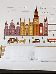 Architecture Wall Stickers Plane Wall Stickers Decorative Wall Stickers,Vinyl Material Home Decoration Wall Decal