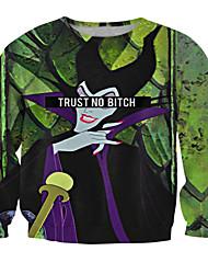 Fête / Célébration Déguisement d'Halloween Noir Vert Imprimé Strings Unisexe Polyester