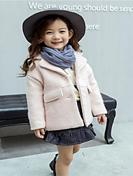 Girl's Casual/Daily Solid Down & Cotton PaddedCotton / Nylon Winter / Fall Black / Pink