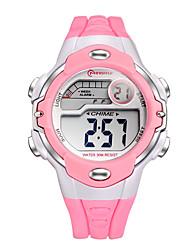 Дети Спортивные часы электронные часы Кварцевый Цифровой Plastic Группа Черный Белый Красный Розовый Фиолетовый Желтый