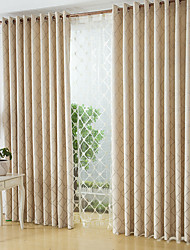 Two Panels European Simple Style Chenille Jacquard Curtains Bedroom  Restaurant Curtains