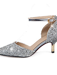 Sandals Spring Summer Fall Other Synthetic Wedding Dress Party & Evening Stiletto Heel Sequin Silver Gold