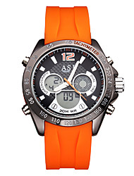 ASJ Men's Sport Watch Fashion Watch Digital Watch JapaneseLCD Compass Calendar Water Resistant / Water Proof Dual Time Zones Luminous