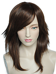 Cosplay Wig Long Natural Wavy Little Brown Women Party  Costume Cosplay Wig Hairstyle With Cap