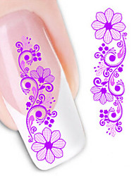 1 PCS 3D Water Transfer Printing Nail Stickers XF1427