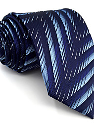 BXL11 Men's Necktie Tie Blue Geometrical 100% Silk Business Fashion Wedding For Men