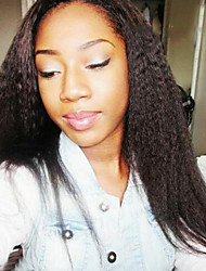 Lace Front Wig Brazilian Virgin Human Hair Kinky Straight Wig For African American Women