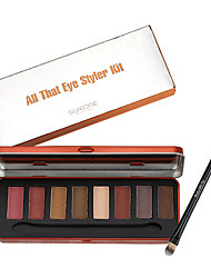8 Lidschattenpalette Trocken Lidschatten-Palette Puder NormalParty Make-up Feen Makeup Cateye Makeup Smokey Makeup Alltag Make-up