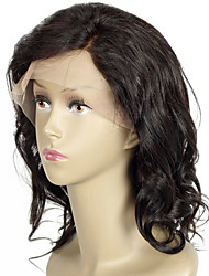 curto cabelo humano perucas 8a onduladas glueless onda do corpo da Malásia rendas rendas frente virgem perucas de cabelo humano bob para