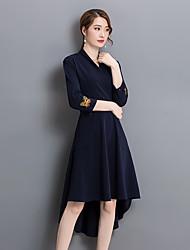 Sign 2017 spring women new ladies temperament put on a large waist dress sleeve dress skirt irregular