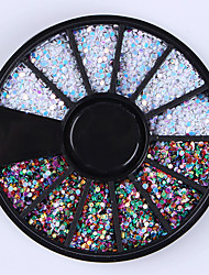 1mm Mixed Color Nail Art Rhinestones Glitters Tips Decoration Manicure Wheel