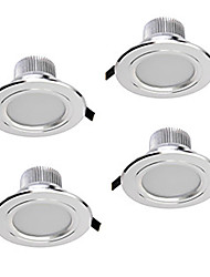 Z®zdm 4pcs 5w 400-450lm downlights led programmable blanc chaud / blanc / blanc naturel ac12v / 110 / 220v