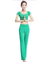 Йога Наборы одежды/Костюмы Дышащий Удобный Стреч Спортивная одежда Жен.Йога