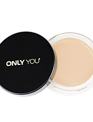 1 Foundation Wet Cream Long Lasting / Concealer / Natural Face Natural / Ivory china Only you