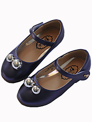 Girl's Boat Shoes Flower Girl Shoes PU Casual Purple White Burgundy