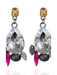 Strass Tropfen-Ohrringe Ohrring Ohrringe Set Schmuck Damen Hochzeit Party Alltag Aleación Strass 1 Paar Schwarz Silber