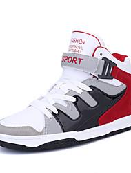 Femme-Décontracté Sport-Bleu Rouge-Talon Plat-Confort-Chaussures d'Athlétisme-Similicuir
