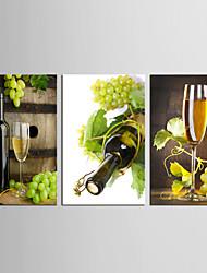 Холст Set Продукты питания Цветочные мотивы/ботанический Классика Европейский стиль,3 панели Холст Вертикальная Печать ИскусствоДекор