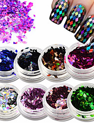 1 Bottle Rhombus Fashion Designs Nail Art Glitter Paillette Dazzling Mixed Colorful DIY Diamond Sticker Tips Decor Accessory LS01-08