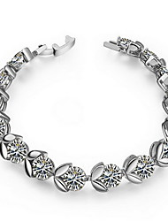 Bracelet Chain Bracelet Zircon Others Natural Fashion Vintage Birthday Party Jewelry Gift Gold White,1pc